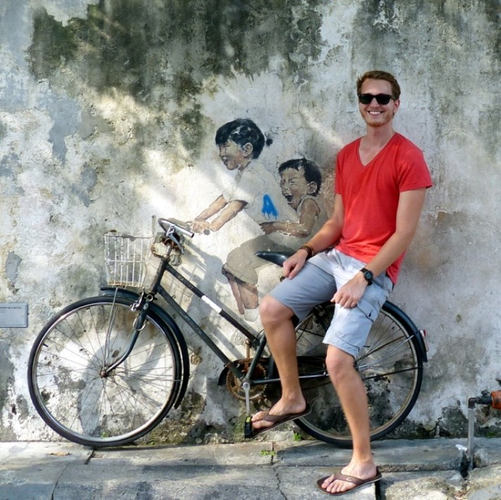 penang street art, Little Children on a bicycle