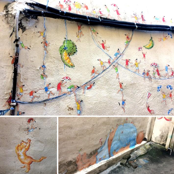 penang street art, Tiny World - Traveling Bytes