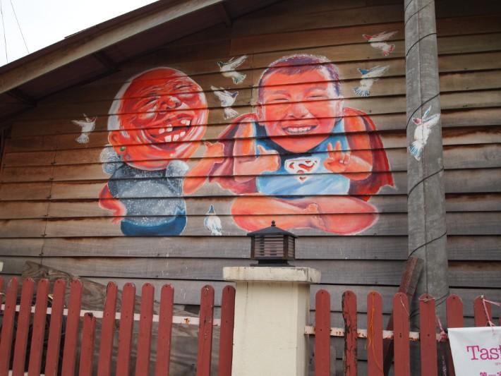 penang street art, ah ma and ah soon - swingabroad