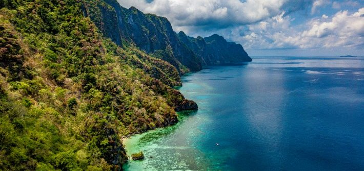 Coron Coastline - travel-tramp.com; Best drones for travel