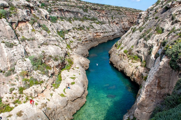 Ghasri, Malta-Gozo-swimming - traveladdicts; Best drones for travel