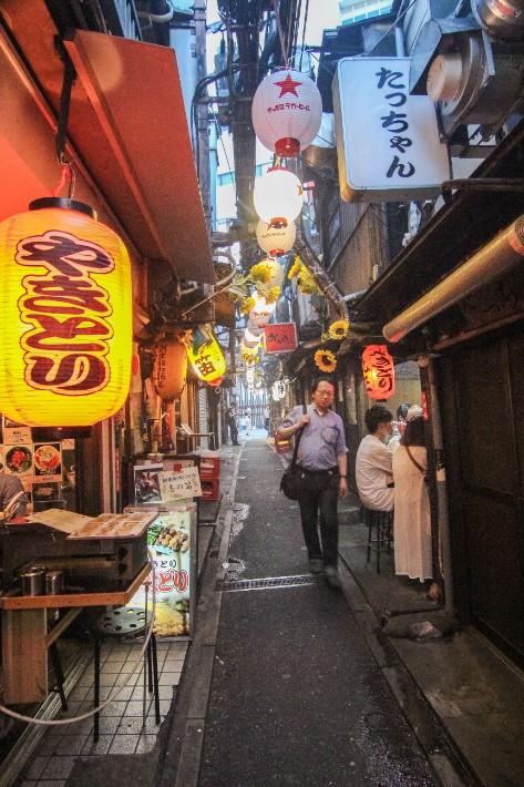 Omoide Yokocho Shinjuku Yakitori Narrow street alley land tokyo