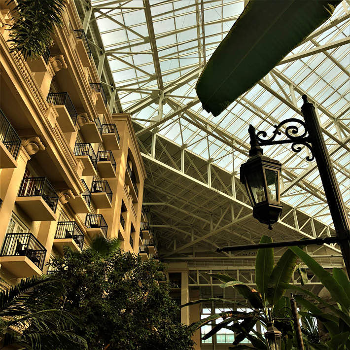 Orlando-Gaylord-Palms-Atrium,-cool-hotels-in-orlando-florida