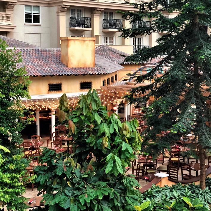 Orlando-Gaylord-Palms-Villa-De-Flora-Restaurant,-cool-hotels-in-orlando-florida