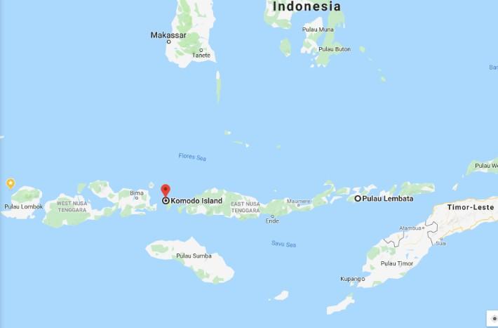 labuan bajo flores komodo indonesia map