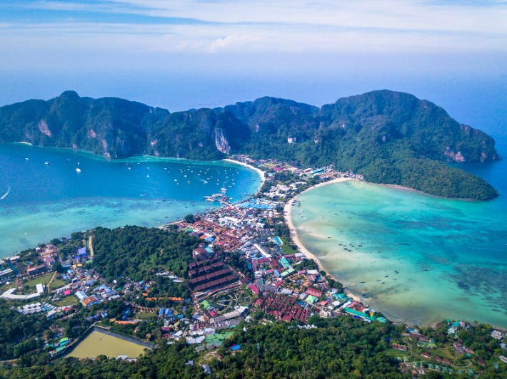 Koh Phi Phi - go4theglobe - best drones for travel