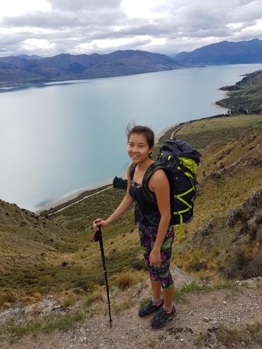 breast hill hiking girl, new zealand