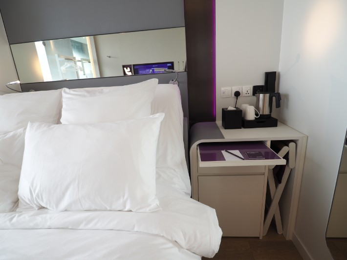 bathroom with view, yotel singapore hotel review