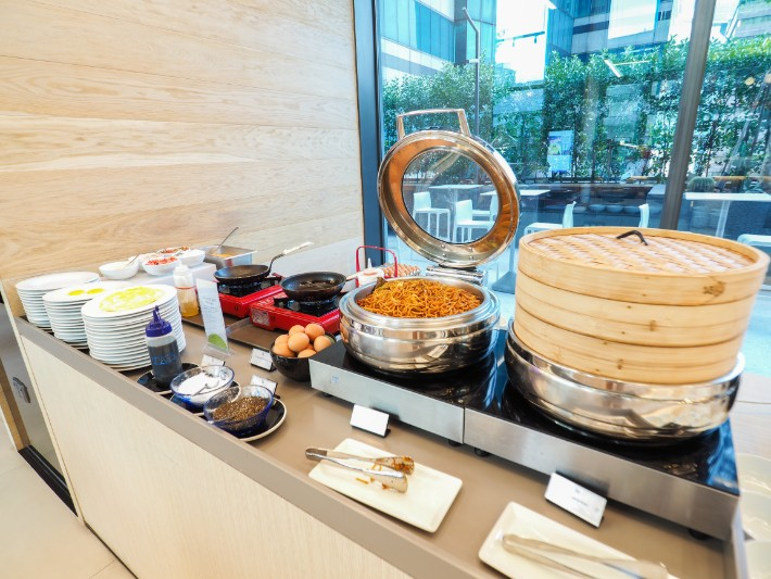 breakfast buffet asian yotel singapore hotel review Bel Around The World