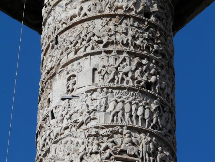 column-marcus-aurelius rome italy