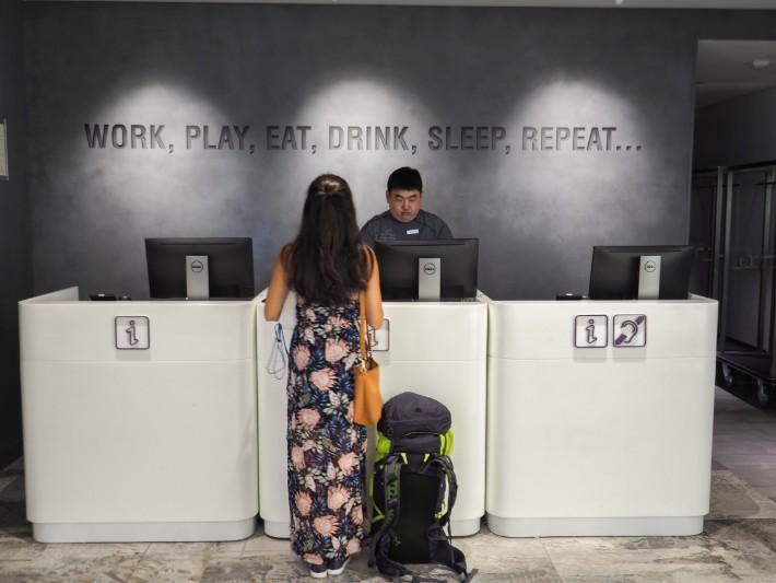 reception, yotel singapore hotel review