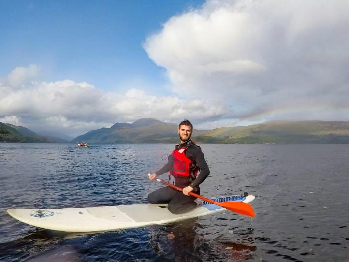 SUP paddleboard rainbow Loch lomond scotland itinerary Bel Around The World