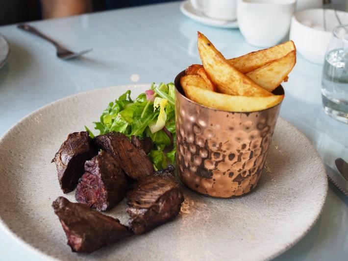 beef onglet steak, Colquhoun, The Lodge on Loch Lomond, scotland itinerary