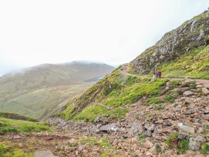 hiking trail ben nevis, scotland
