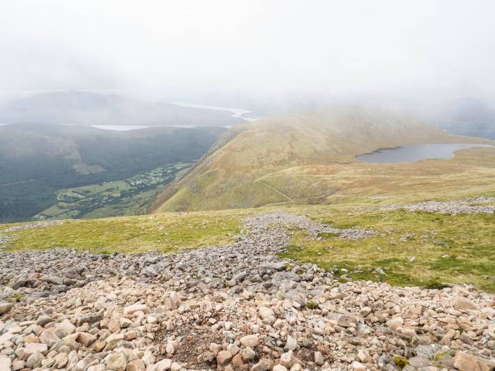 hiking views ben nevis, scotland