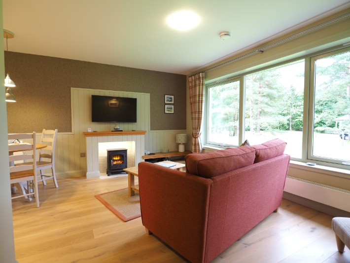 living room, glen nevis holidays luxury cottage, scotland itinerary