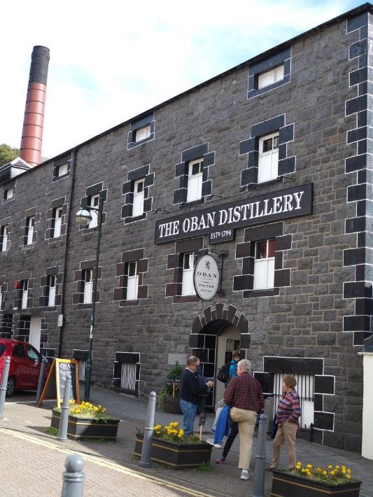 oban distillery, oban, scotland itinerary