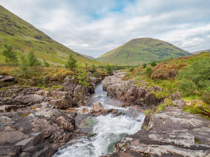 river mountain, glencoe, scotland itinerary
