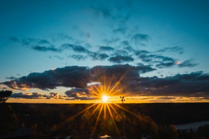 sunset nuuksio national park, finland