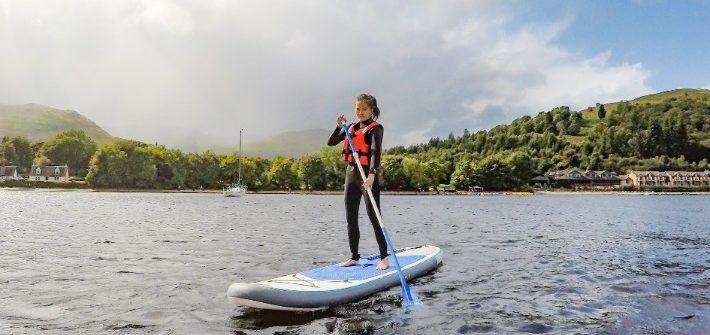 sup paddleboard, Loch lomond, scotland itinerary