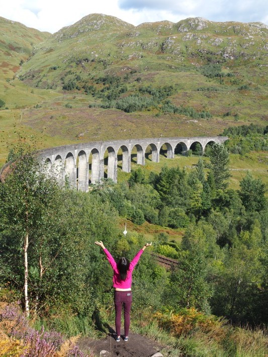 viewpoint, glenfinnan viaduct, scotland itinerary