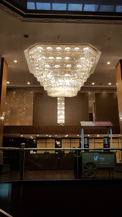 Village Bugis Hotel's Made-In-Singapore chandelier