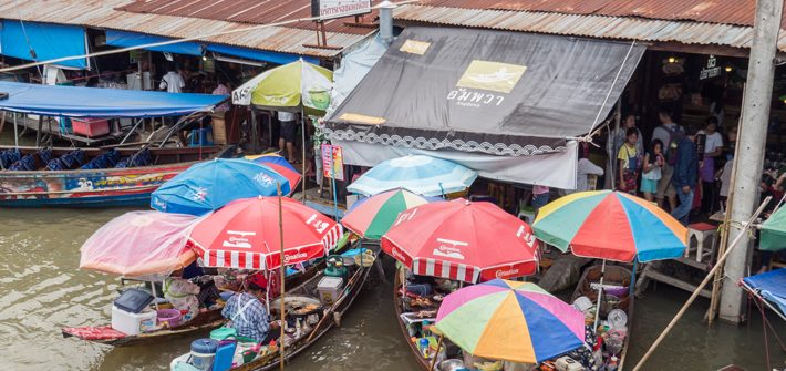 amphawa floating market bridge, Day trips from Bangkok -Amphawa Floating Market, Maeklong Railway Market, Ban Bang Phlap