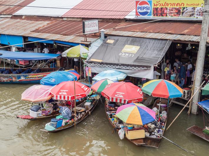 Day trips from Bangkok –Amphawa Floating Market, Maeklong Railway Market, Ban Bang Phlap