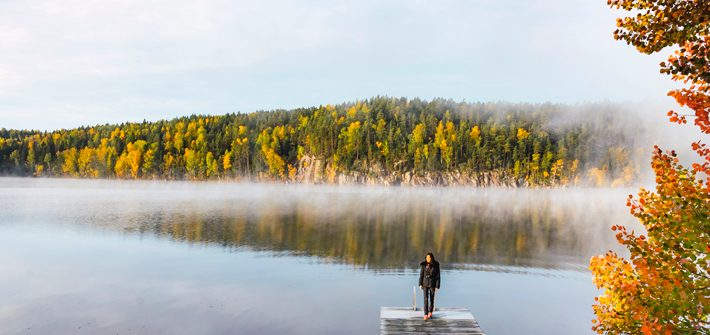 jetty, pier, autumn, fall, Nuuksio National Park