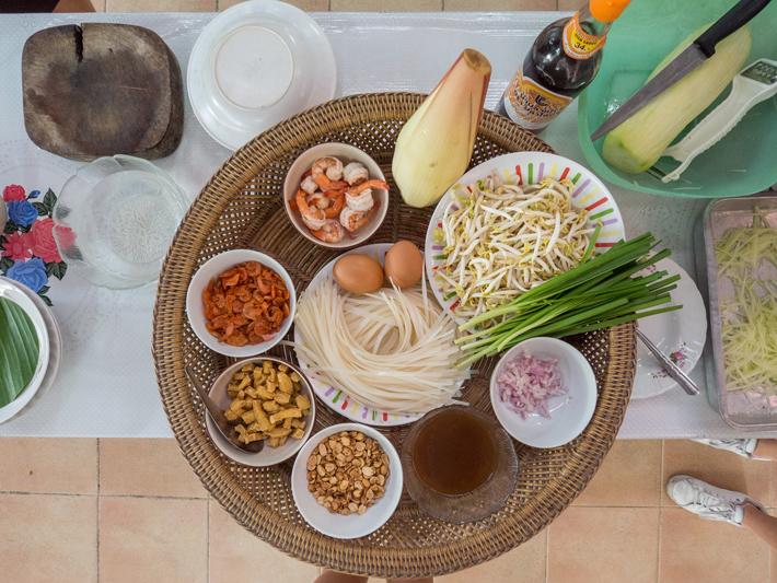 pad thai ingredients, Day trips from Bangkok -Amphawa Floating Market, Maeklong Railway Market, Ban Bang Phlap