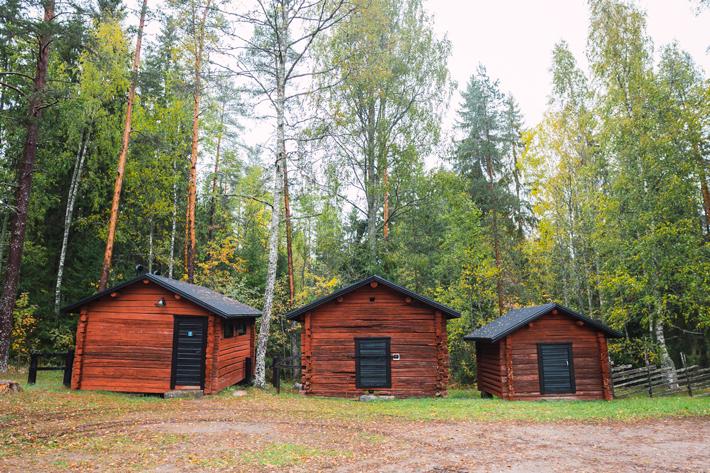 red wood cabins, Nuuksio National Park