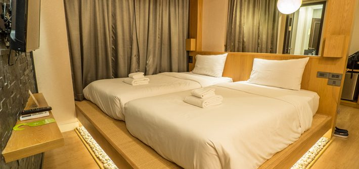 zenniq-hotel-twin-bedroom,-Day-trips-from-Bangkok,-Thailand