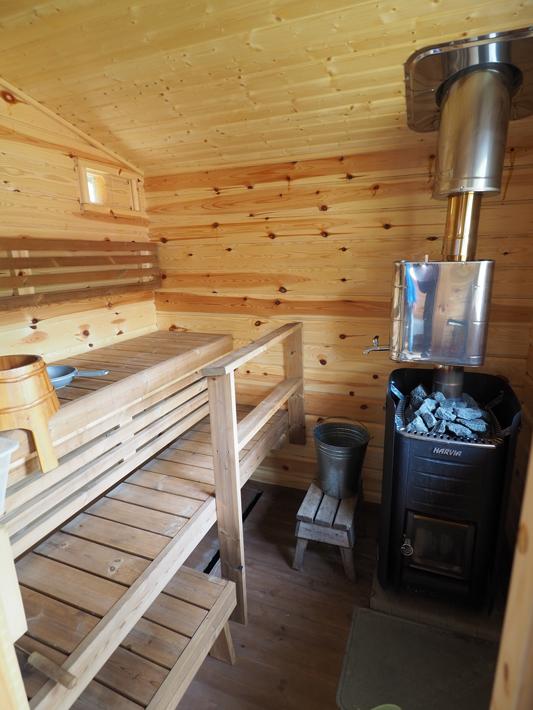wood sauna, Nuuksio National Park