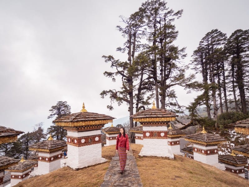 108 chortens, Dochula Pass, Bhutan