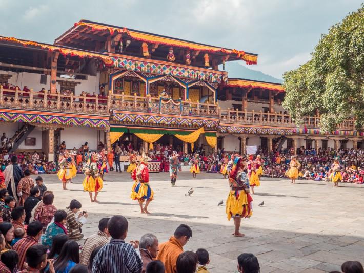 Punakha Dzong dance, Bhutan