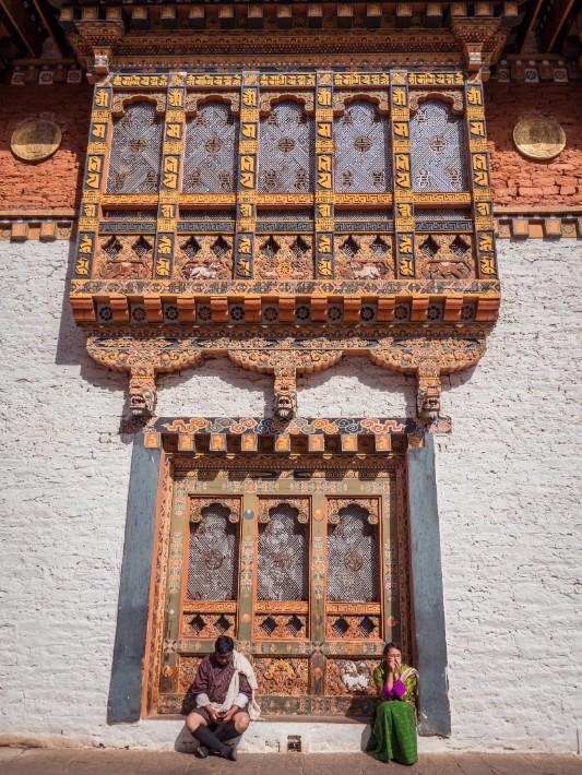 Punakha Dzong windows, Bhutan