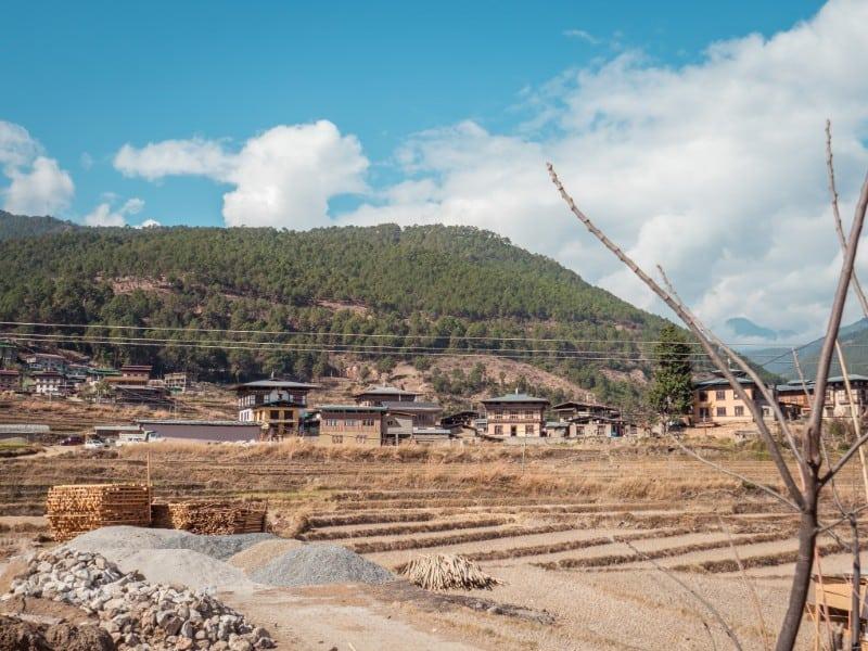 Village Chimi Lhakhang Phallus Bhutan