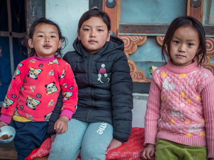 local girls, homestay, paro, bhutan