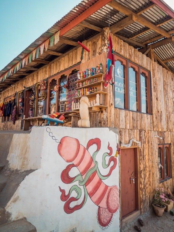 penis paintings, Chimi Lhakhang Phallus Bhutan