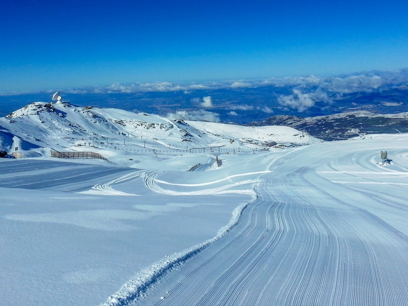 ski sierra nevada granada spain snow resort mountains cold