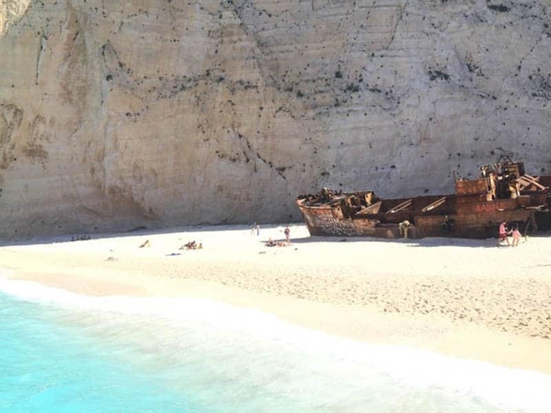 Shipwreck Beach from Below, best beaches in zakynthos greece