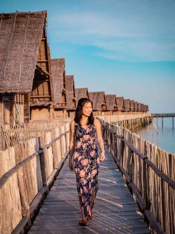 overwater deck, Telunas Private Island Batam Indonesia, Hotel Review