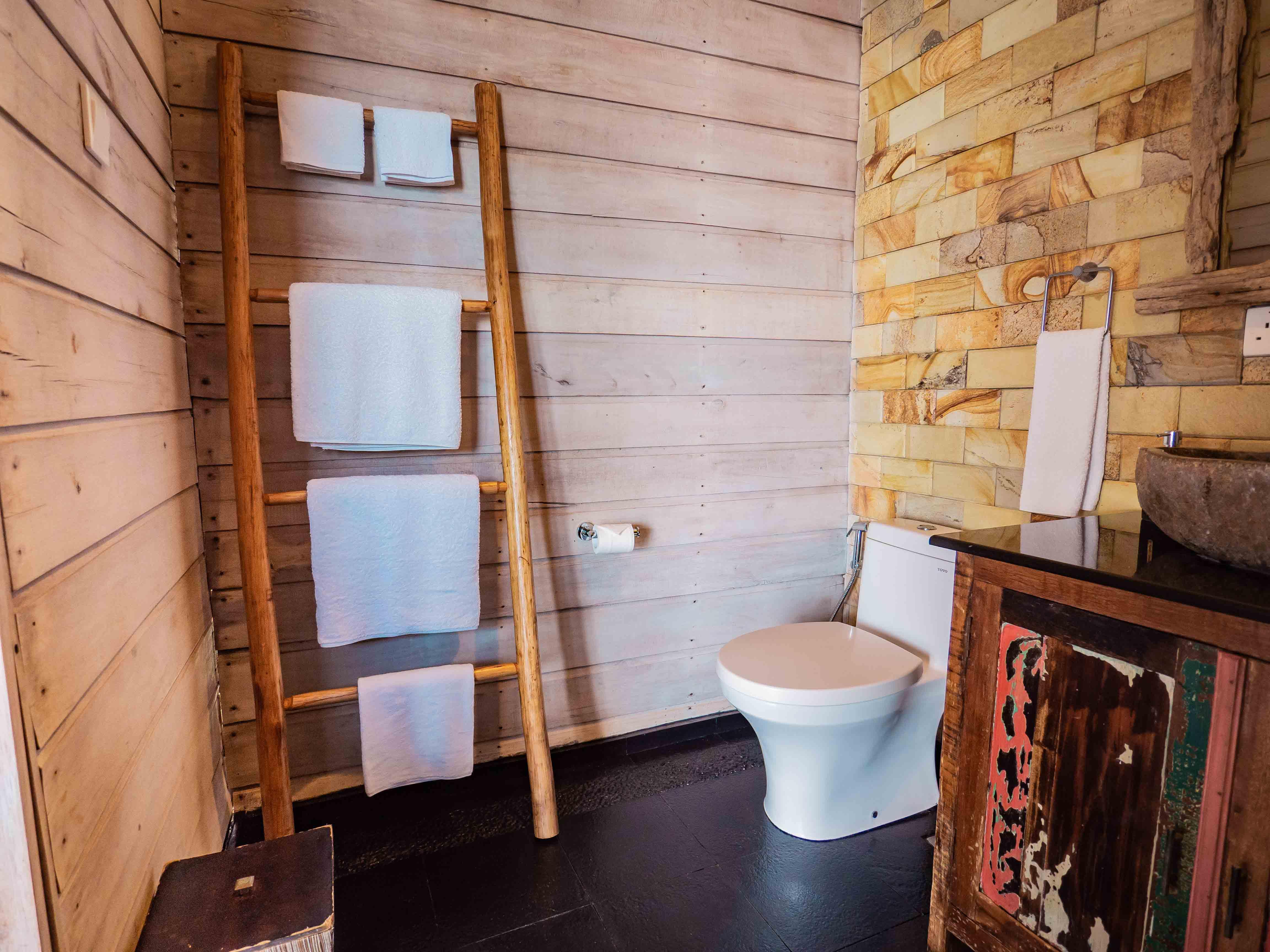 toilet, Telunas Private Island Batam Indonesia, Hotel Review