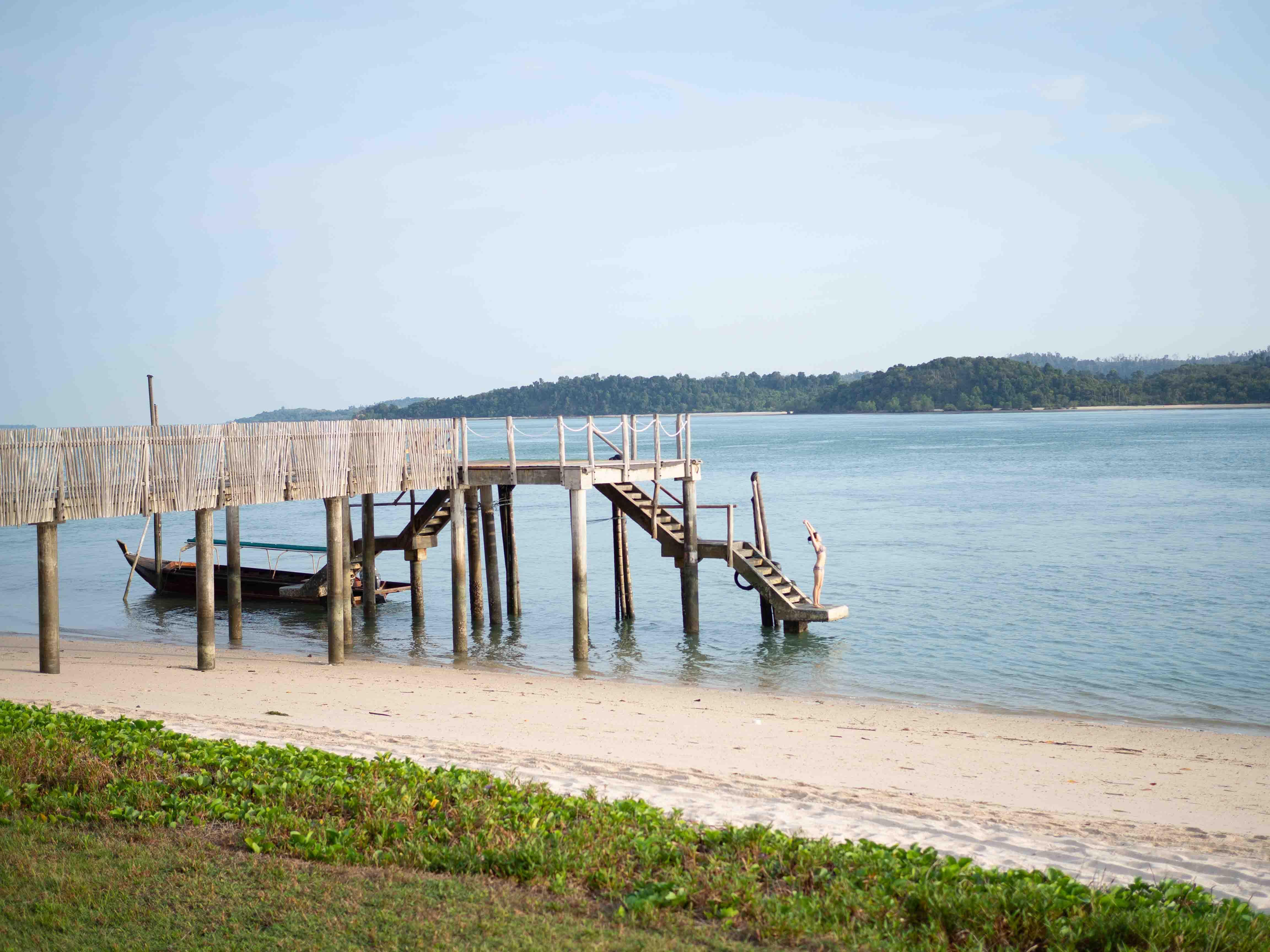 jetty, Telunas Private Island Batam Indonesia, Hotel Review