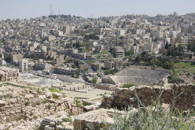 View of Amman including Amphitheatre, what to do in amman jordan