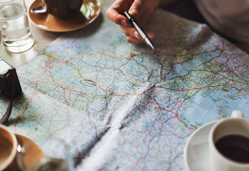 activity-adventure-map travel