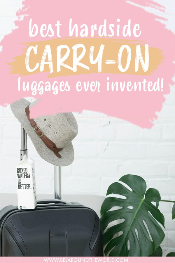 Find the best #hardside #carryon #luggage to #travel at any #budget - read more for our top picks for the best hard shell carry on luggage!