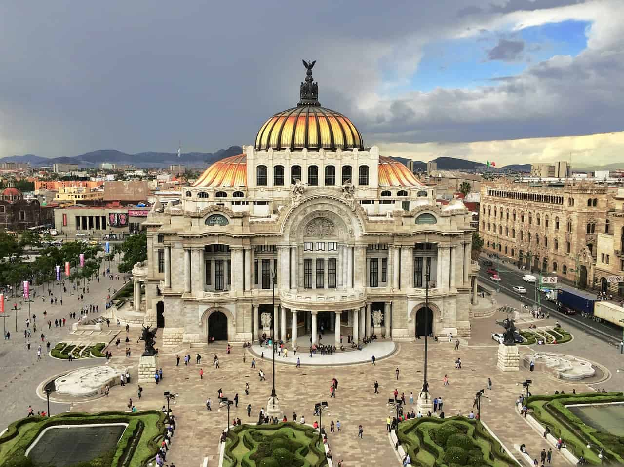 palace-of-fine-arts, Mexico City, UNESCO World Heritage Sites