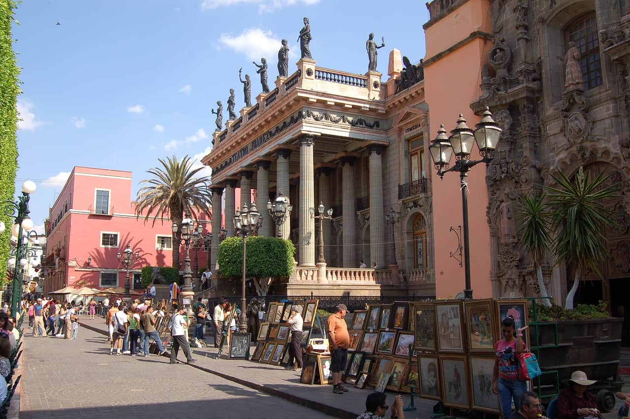 street-Historic Town of Guanajuato, UNESCO World Heritage Sites in Mexico