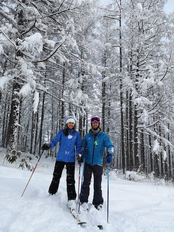 skiing japan winter
